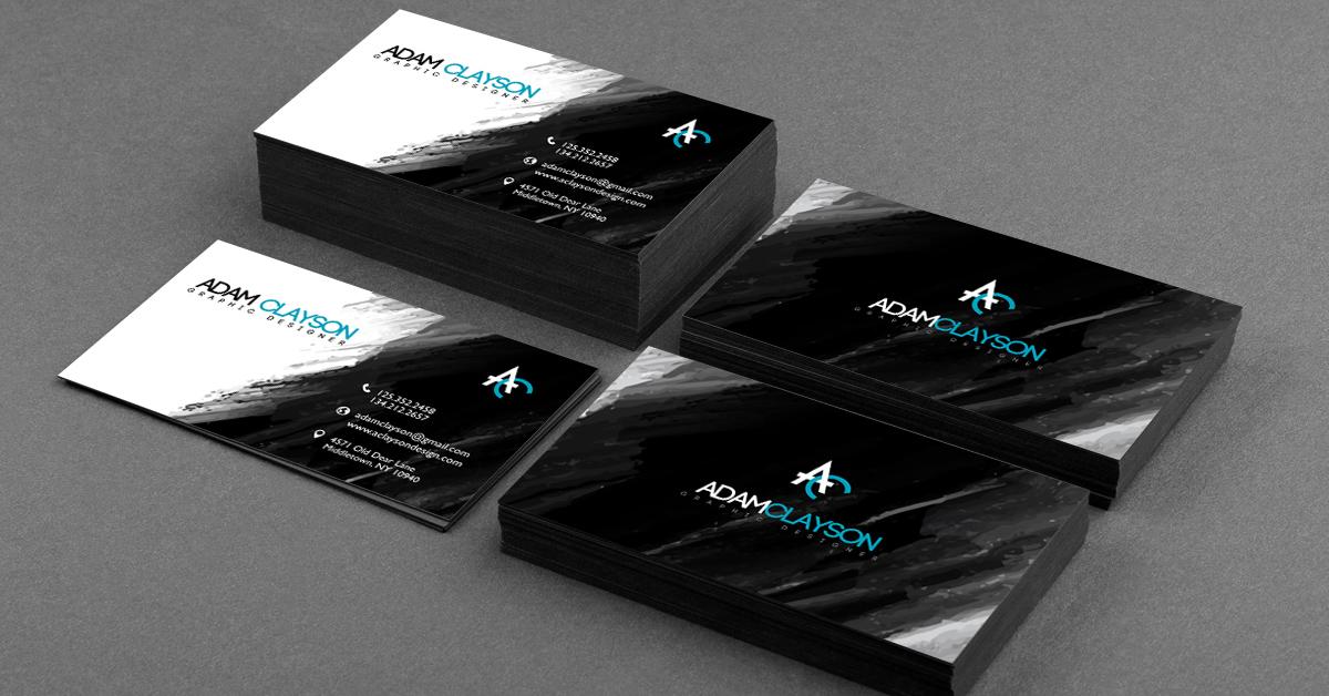 25 stunning black business cards for print design