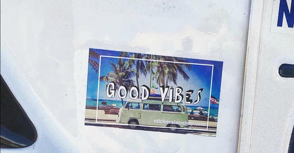 Good Vibes Volkswagon Bus Sticker