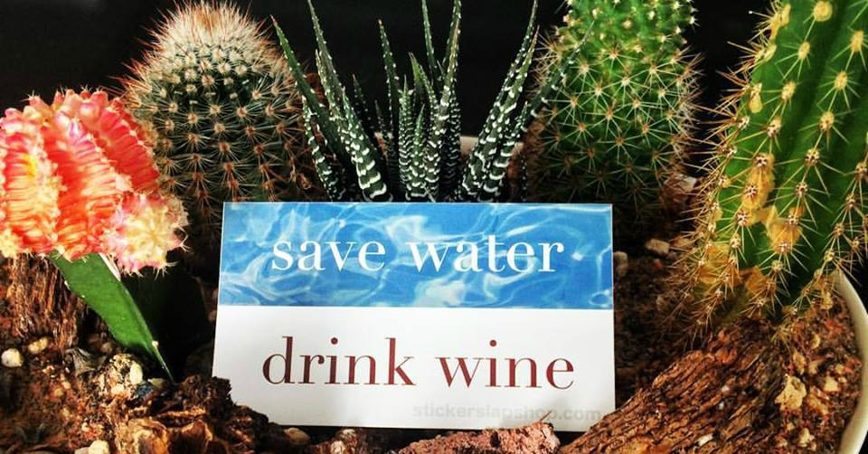 Save Water Drink Wine Sticker