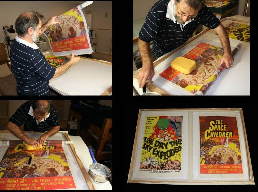 Interesting Things You Didn't Realize About Posters - Linen Backing Process