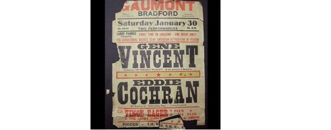 Interesting Things You Didn't Realize About Posters - Damaged Gene Vincent/ Eddie Cochran Poster