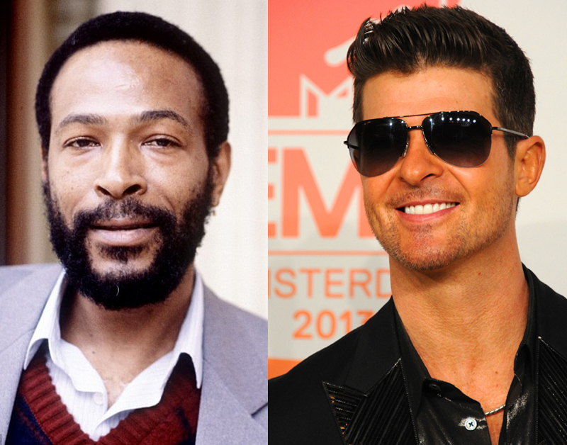 Marvin Gaye with Robin Thicke