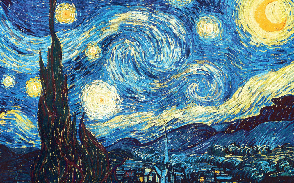 Vincent Van Gogh's Starry Night public domain painting