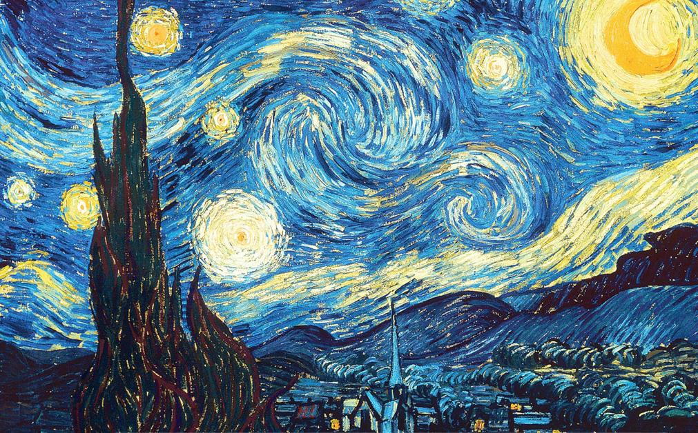 Vincent Van Gogh's Starry Night public domain painting