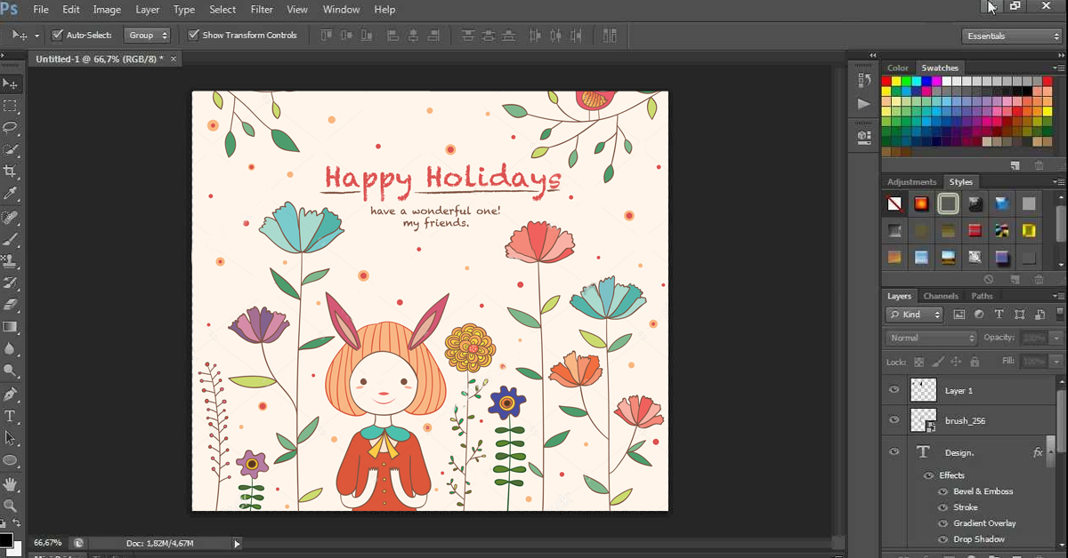 greeting card template example
