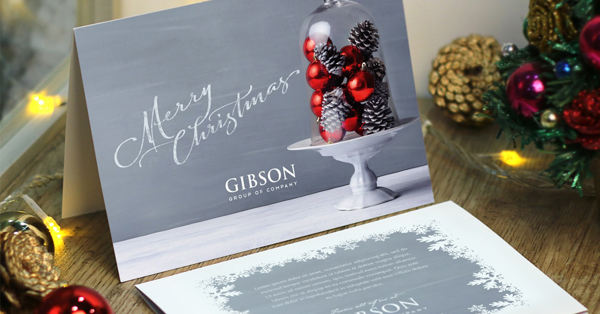 Custom horizontal Christmas cards example