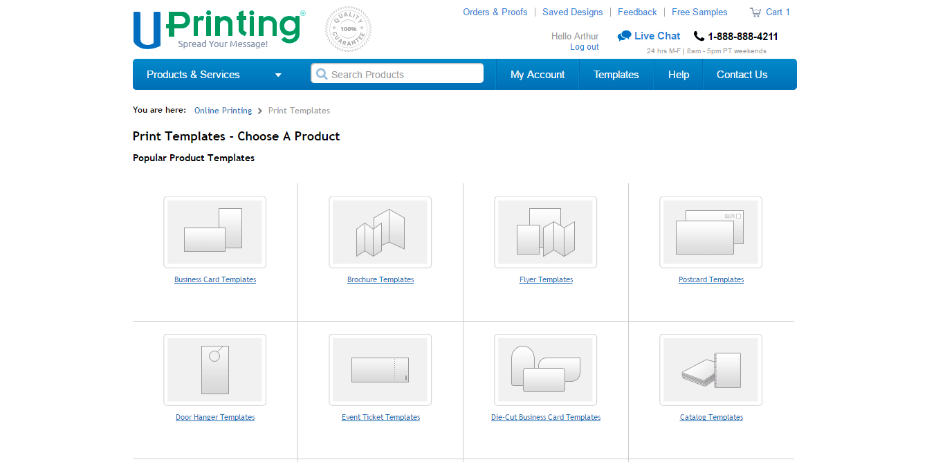 How To Use Uprinting S Online Printing Templates In 5 Steps