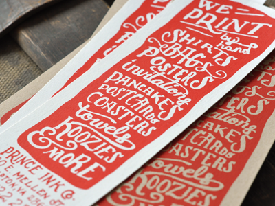 The Prince Ink Co. Flyer
