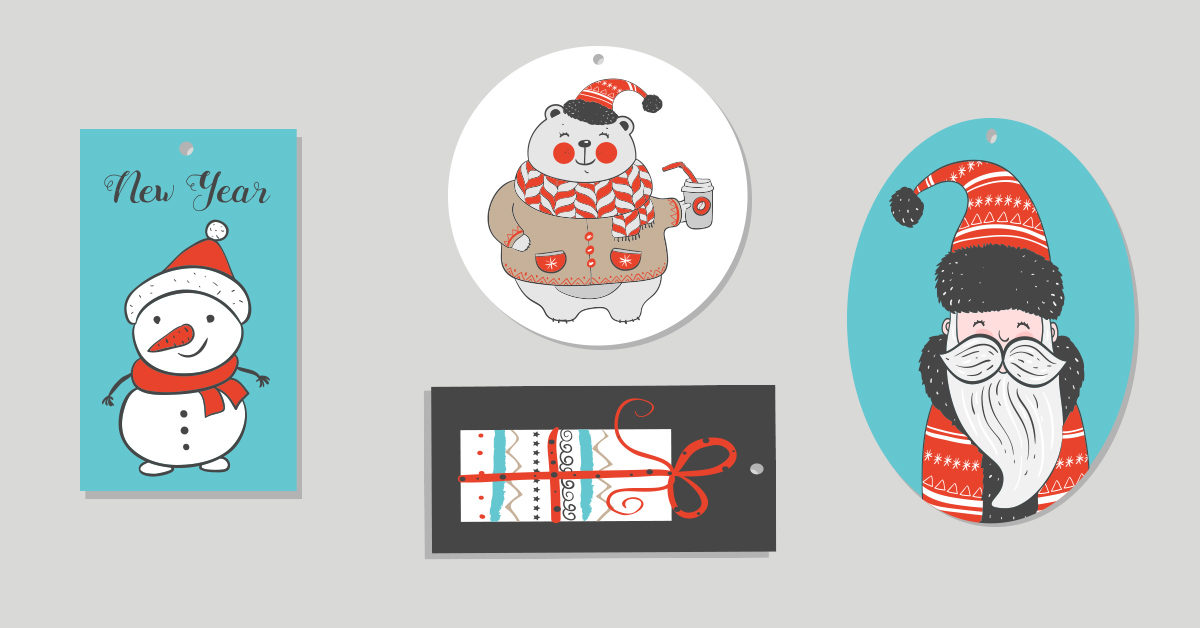 Selection of holiday hang tags
