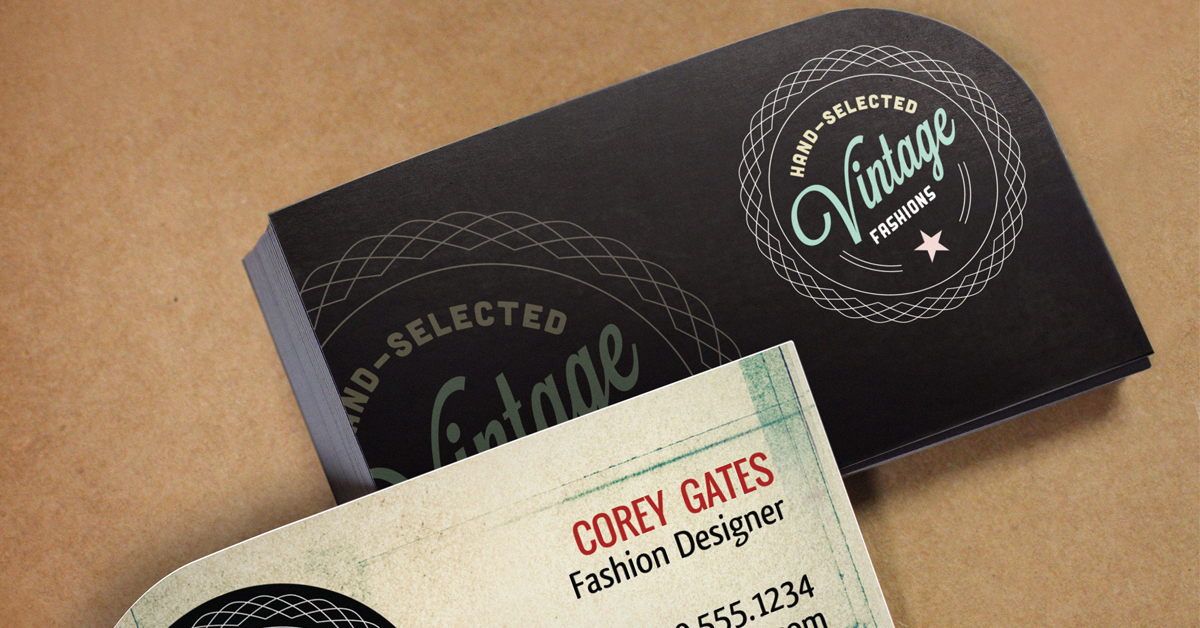 Single-rounded corner business cards