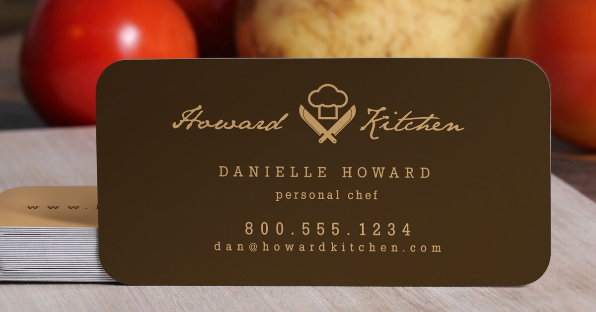 Slim rounded corner business card