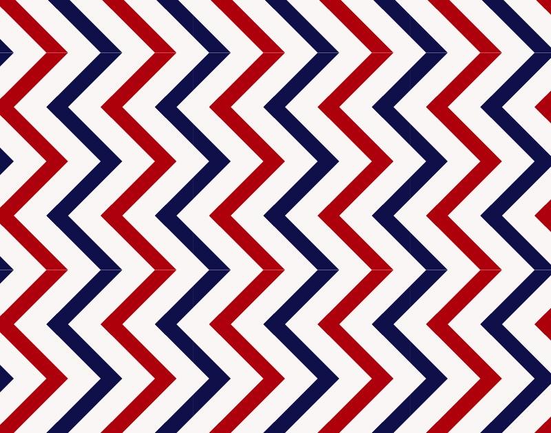 rhythmic zigzag pattern
