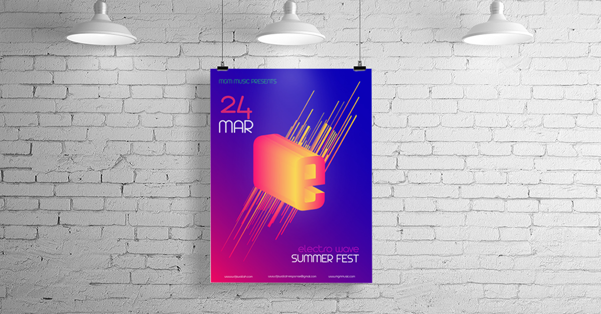 poster rhythmic mark visual motif
