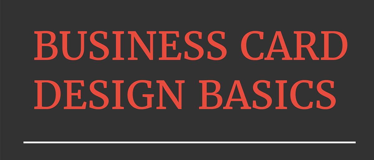 business card design guide - basics
