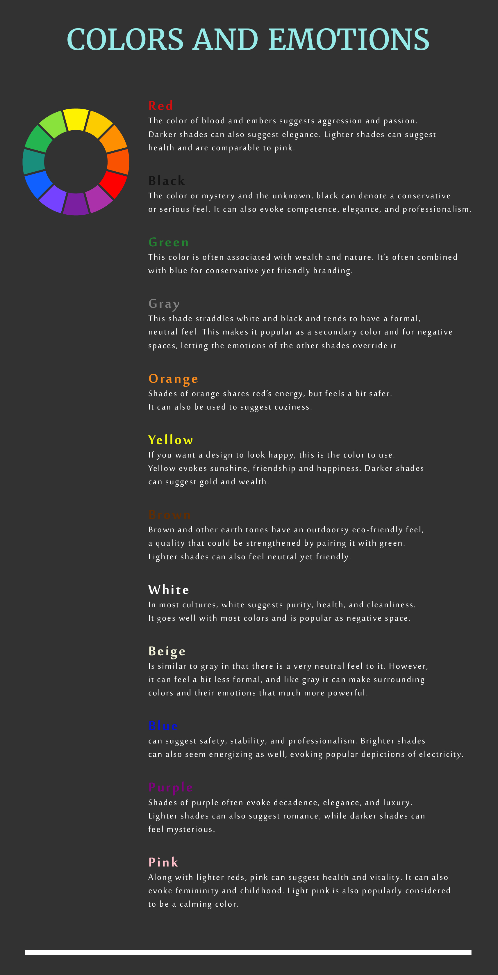 business card design guide colors and emotions