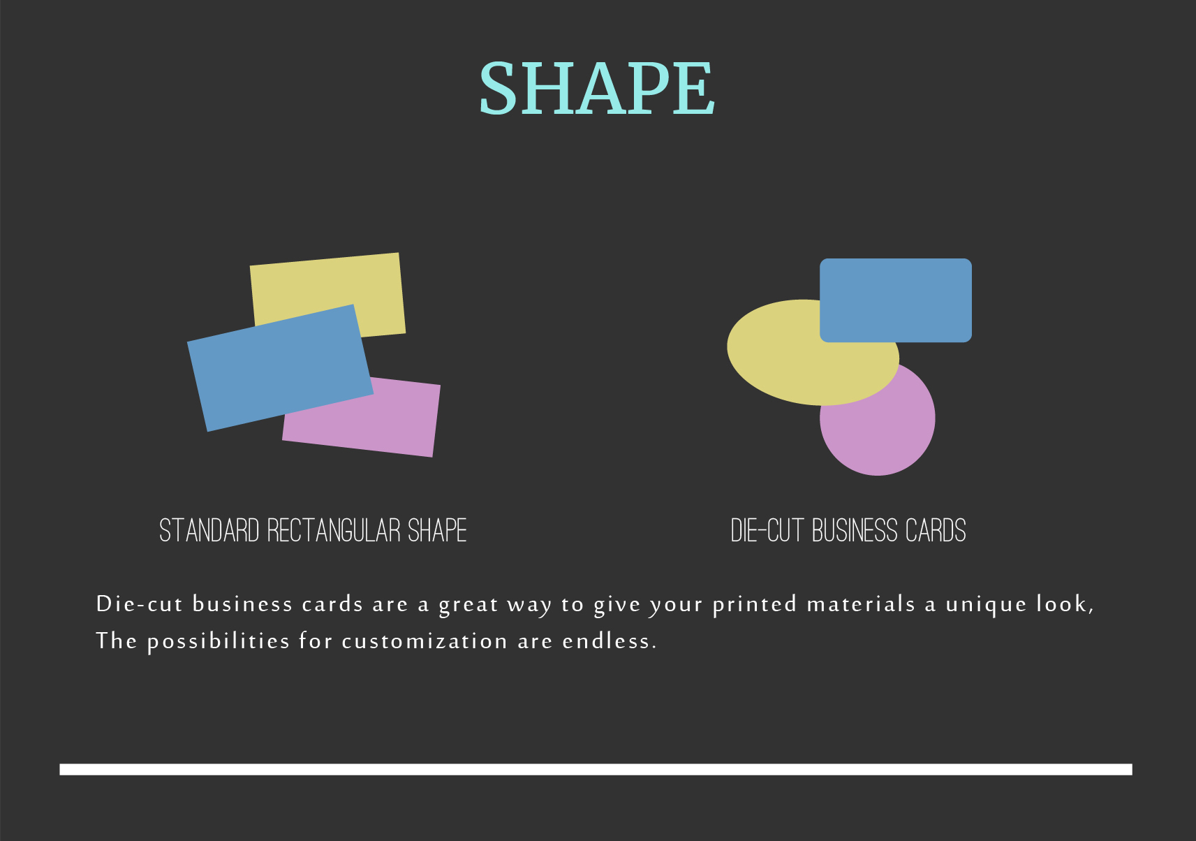 shapes for business cards