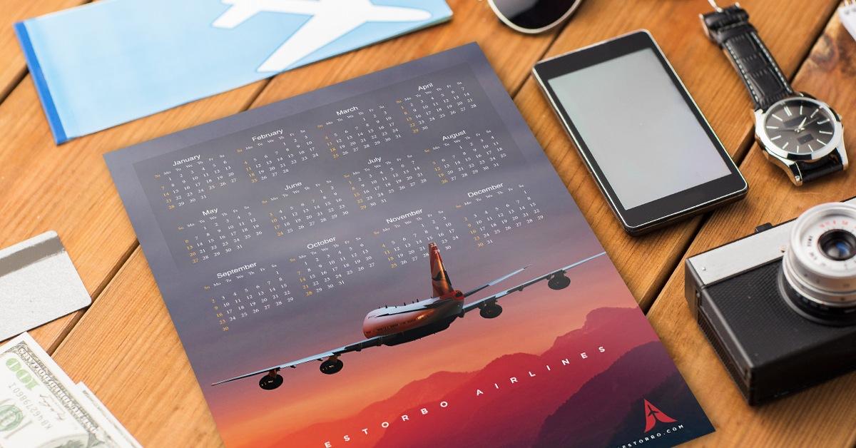 Airplane Calendars