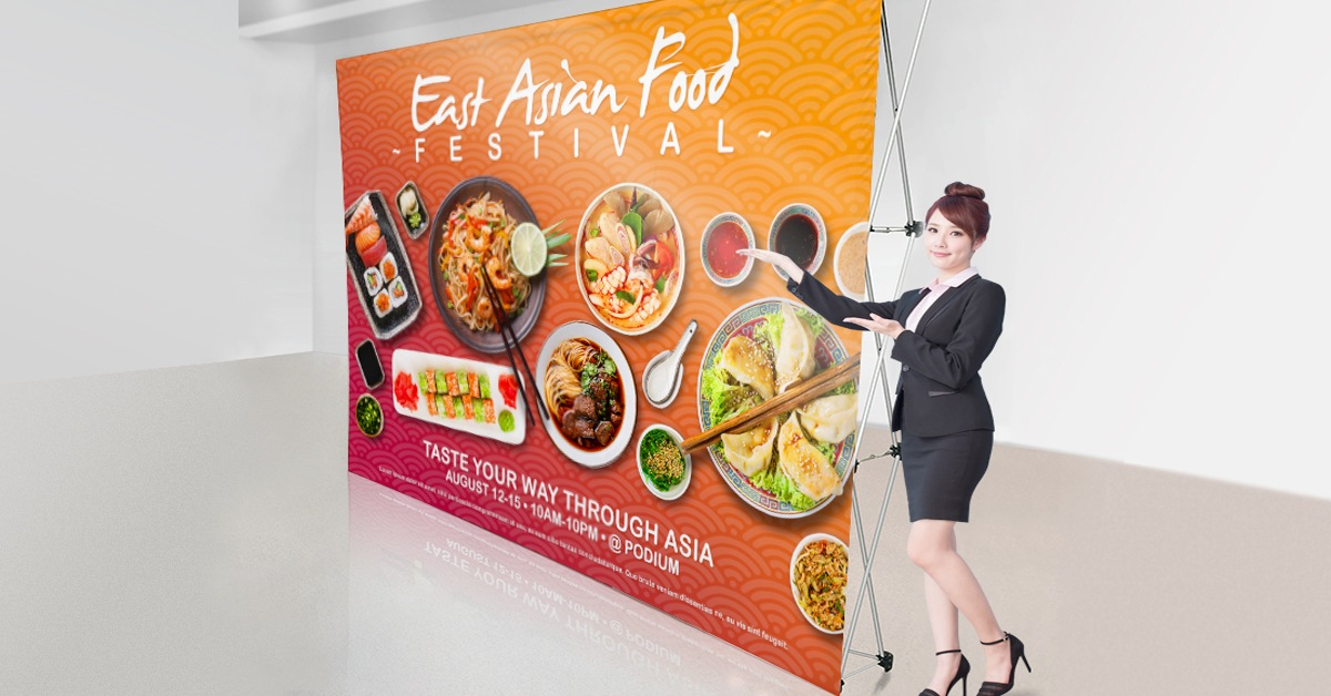 pop up display Asian food