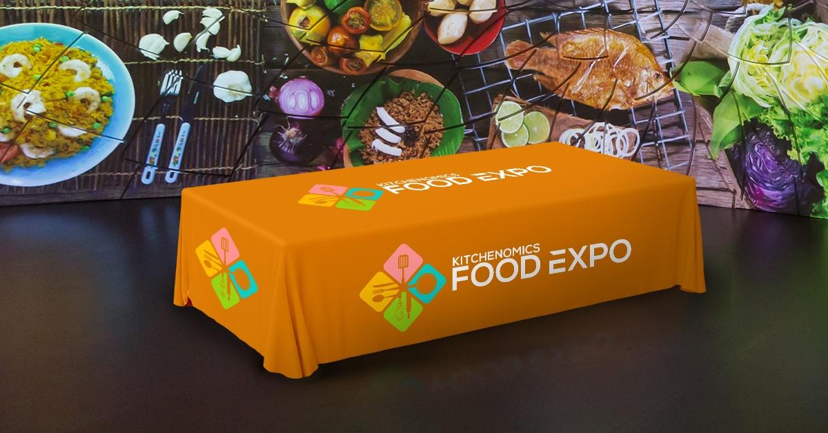 Custom Tablecloths Food Expo