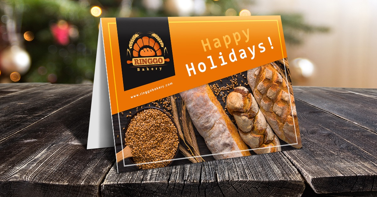 themed holiday postcard for business