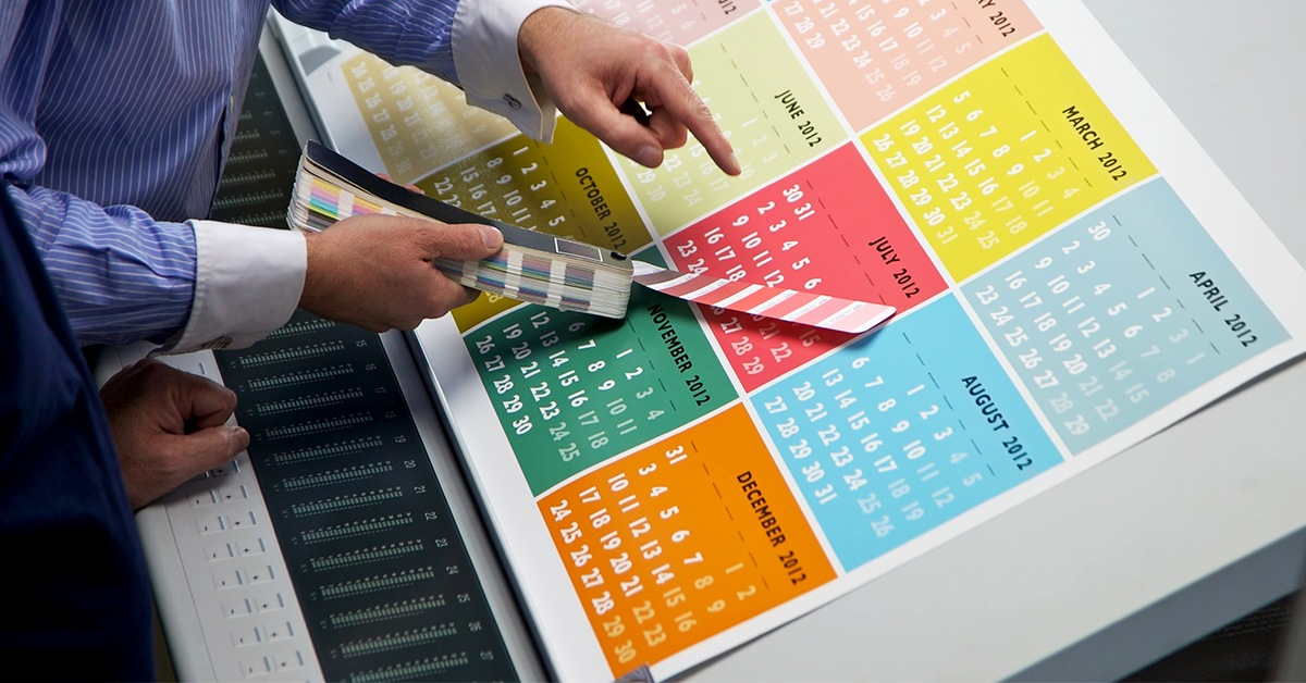 Calendar proofing and color matching