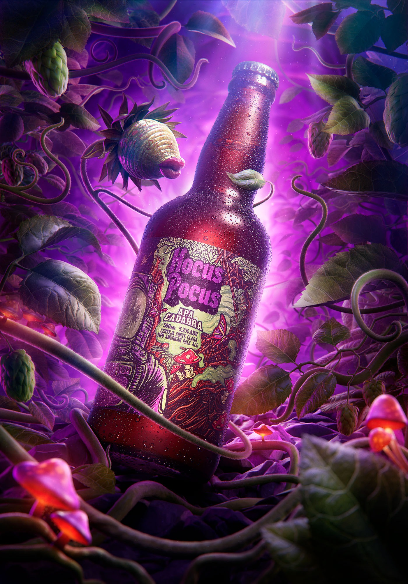 Beer Bottle Labels - Hocus Pocus