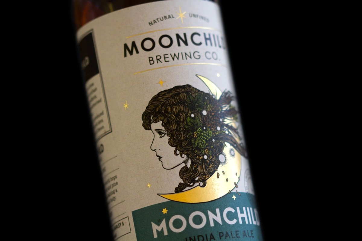 beer bottle labels - Moonchild