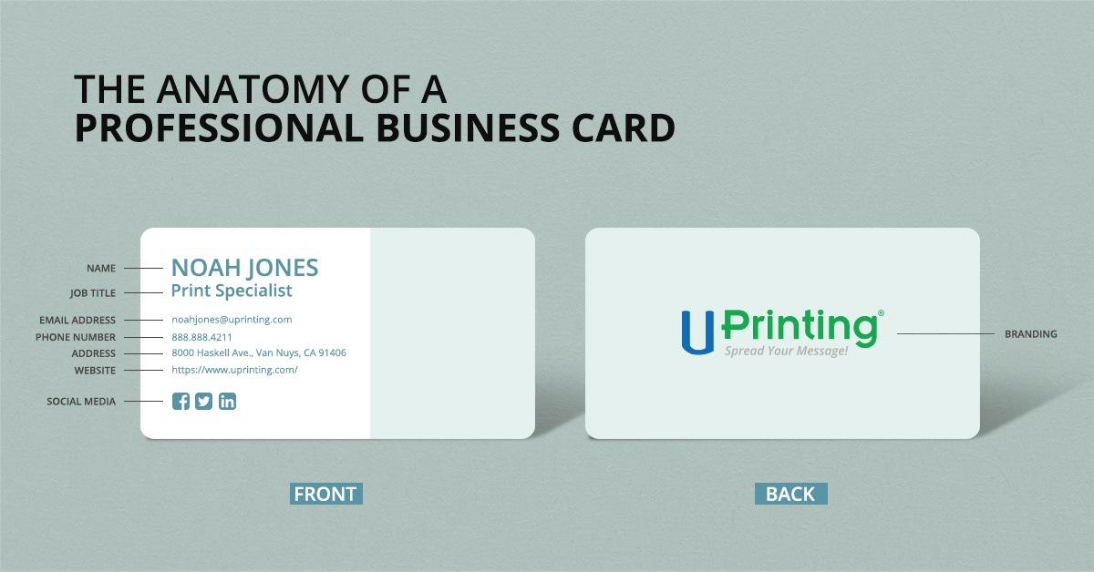 Contact information that should be in your business card