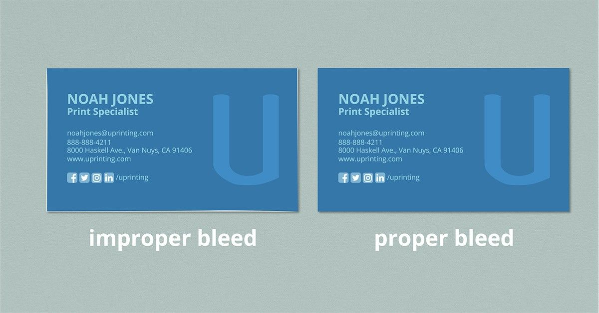 Proper Business Card Bleed