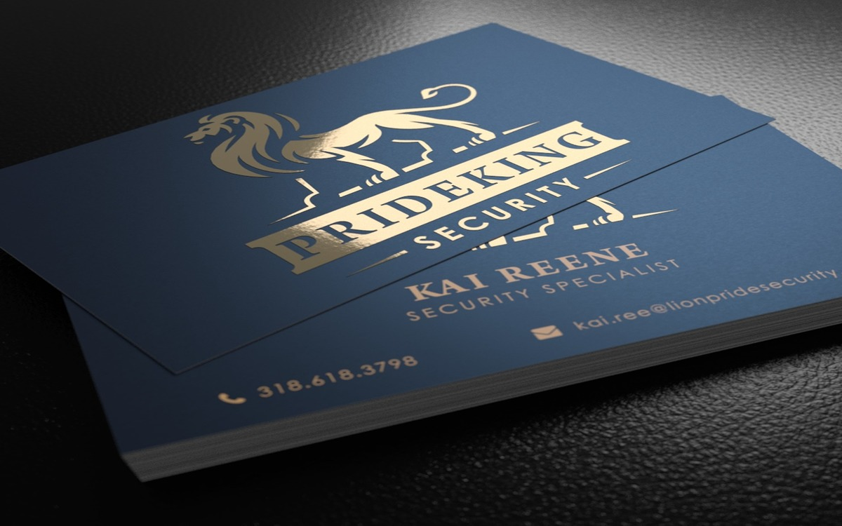 foil stamped business cards