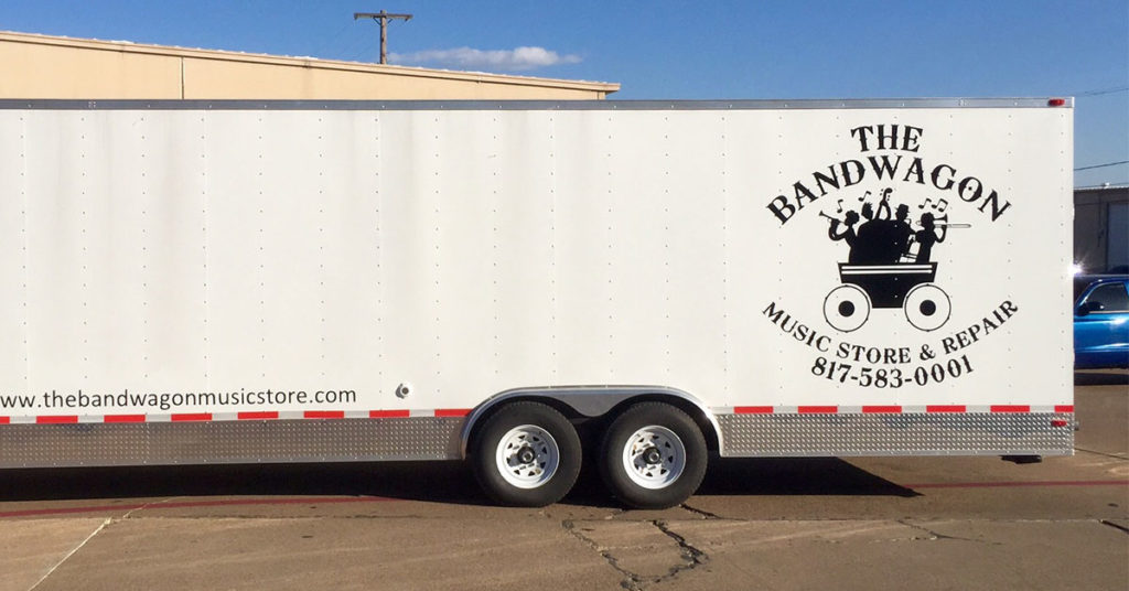 The Bandwagon Music Store and Repair Trailer