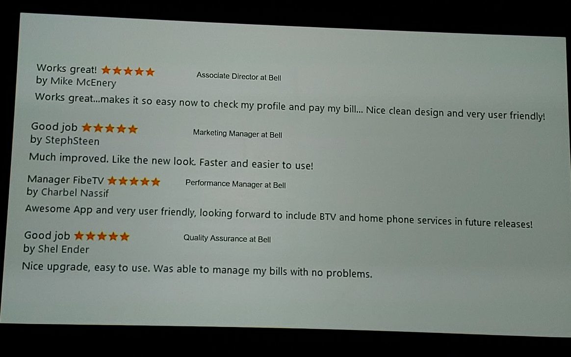 Bell Mobile Fake Reviews