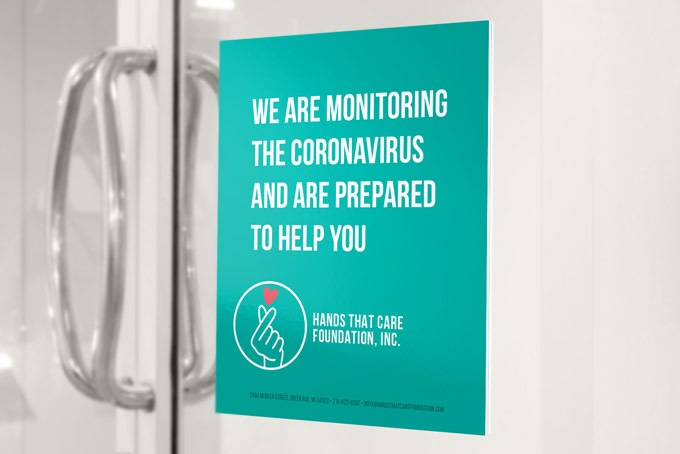COVID-19 Poster Enterance Sign
