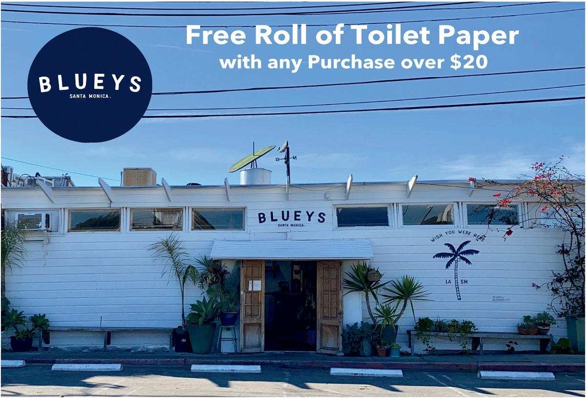 bluey's kitchen postcard free toilet paper